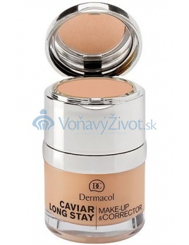 Dermacol Caviar Long Stay Make-Up & Corrector 30ml W, odstín 3 nude