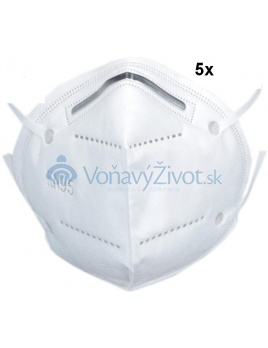 5x Respirátor KN95 FFP2