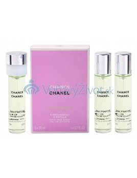Chanel Chance Twist and Spray 3 Refills EDT W 3x20ml