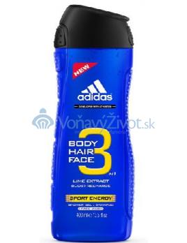 Adidas 3in1 Sport Energy Sprchový gél 400ml M