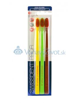 Swissdent Colours Soft-Medium 3 pcs (yellow, light green, black)