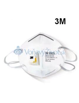 3M Respirátor (KN95) FFP2 s výdychovým ventilom, Atest Pre COVID-19 (Koronavírus)