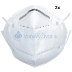 3x Respirátor KN95 FFP2