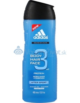Adidas 3in1 After Sport Sprchový gél 400ml M