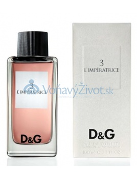Dolce & Gabbana D&G 3 L'Impératrice W EDT 100ml