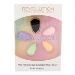 Makeup Revolution London Mini Pro Colour Correct Sponge Kit 5pcs