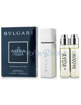 Bvlgari Aqva Pour Homme The Refillable Travel Spray M EDT 3x15ml