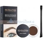 Makeup Revolution London Brow Pomade 2,5g - Dark Brown