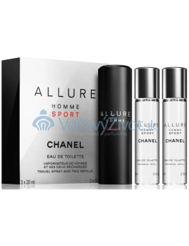 Chanel Allure Homme Sport Travel Spray And Two Refills M EDT 3x20ml