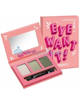 Misslyn Eye Want It! Eyeshadow Set 2,1g - 56 Leaf Me Alone