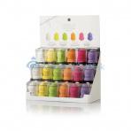 Labor stojan s houbičkami Blender Make Up, mix barev 18ks